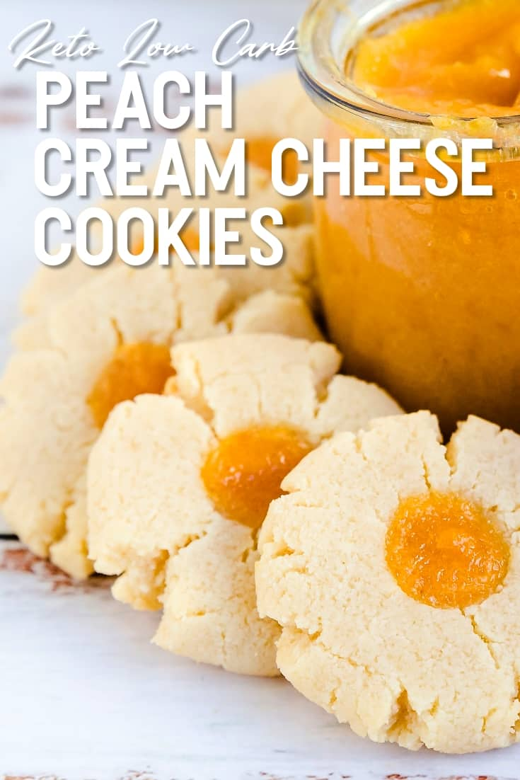 Keto Low Carb Peach Cream Cheese Cookies