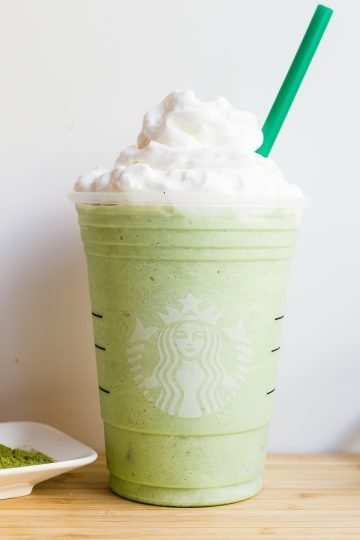 Keto Starbucks Copycat Matcha Creme Frappuccino LowCarbingAsian Cover