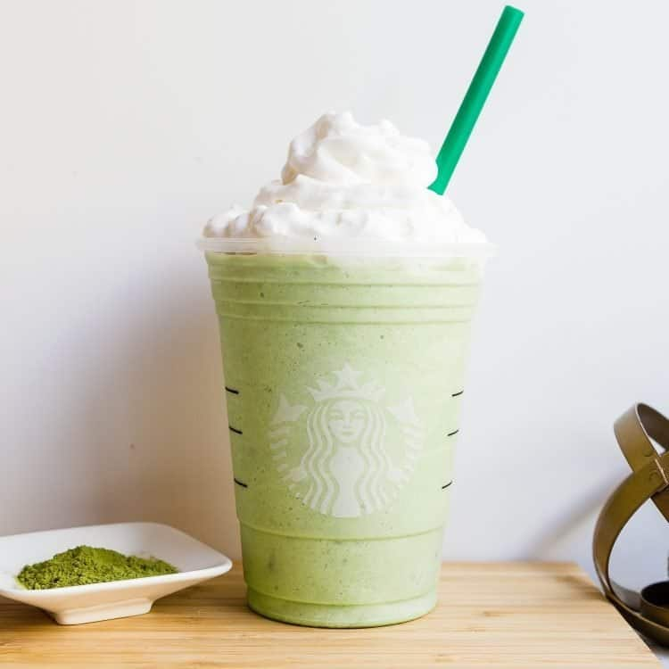 Keto Starbucks Copycat Matcha Creme Frappuccino LowCarbingAsian Cover