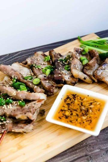 Korean BBQ Grilled Pork Belly