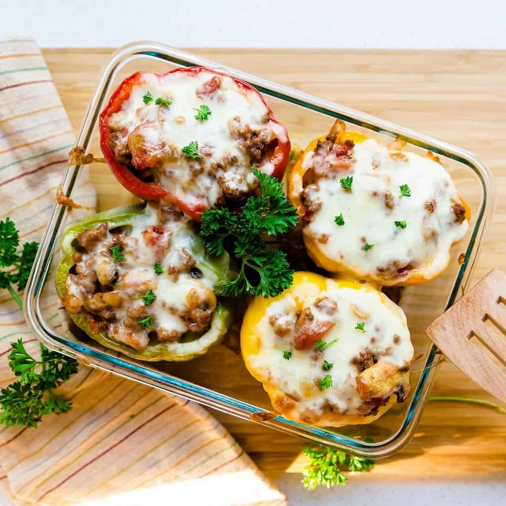 Low Carb Japanaese Meatsauce Stuffed Bell Peppers LowCarbingAsian Pic