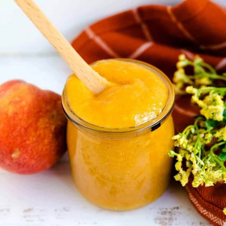 Low Carb Peach Sauce LowCarbingAsian Cover