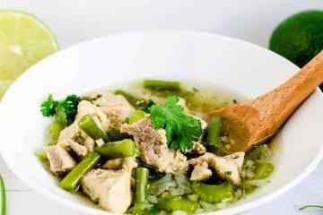 Peruvian Chicken Soup - Aguadito de Pollo LowCarbingAsian Cover