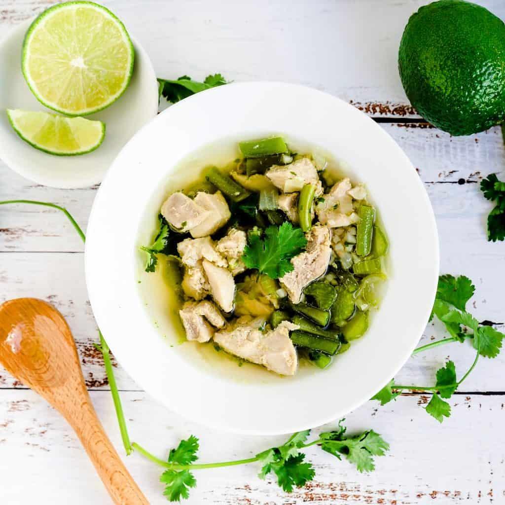 Peruvian Chicken Soup - Aguadito de Pollo LowCarbingAsian Pic 1