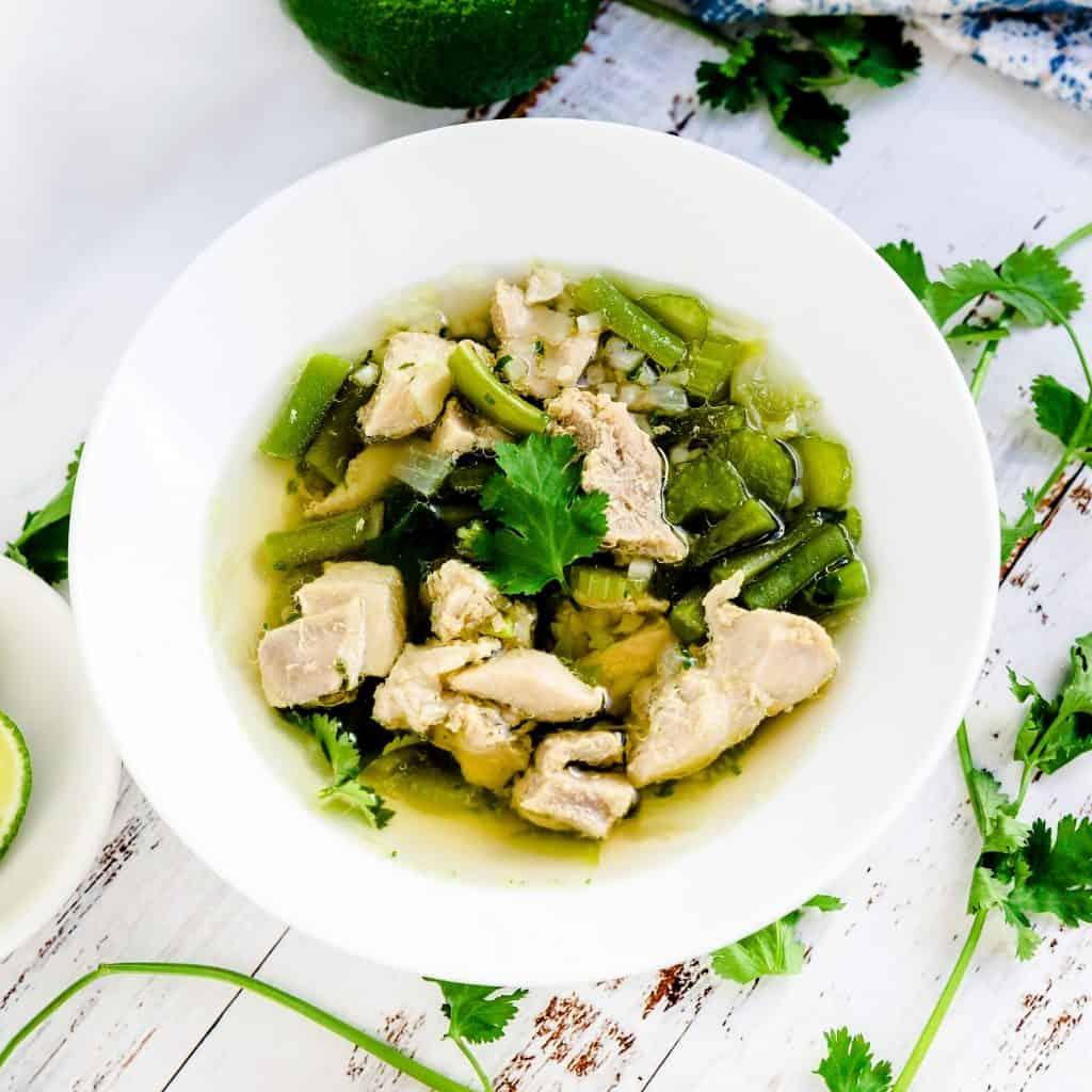 Peruvian Chicken Soup - Aguadito de Pollo LowCarbingAsian Pic 2