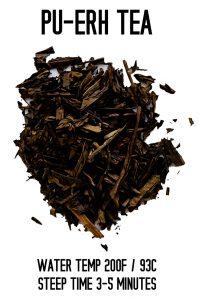 Puerh Tea Steep Info