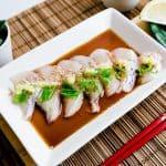 Red Seabream Carpaccio Sashimi LowCarbingAsian Cover