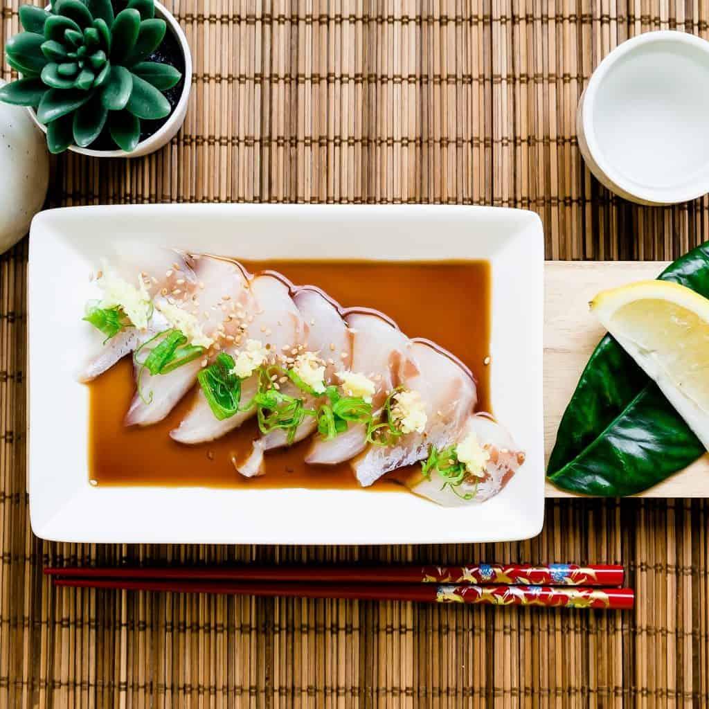 Red Seabream Carpaccio Sashimi LowCarbingAsian Pic