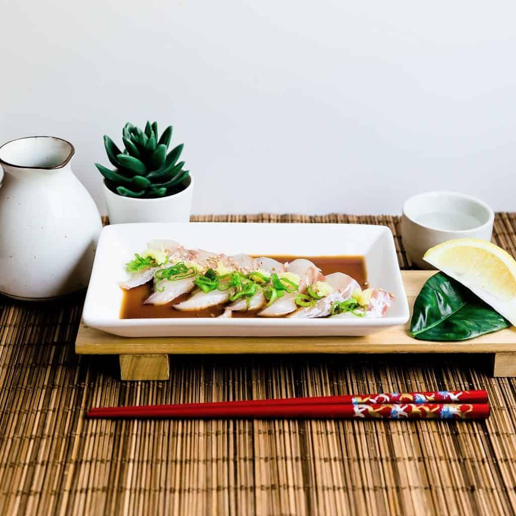 Red Seabream Carpaccio Sashimi LowCarbingAsian Pic 2