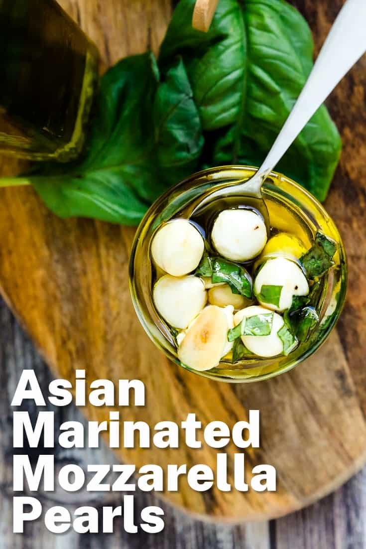 Asian Marinated Mozzarella Pearls