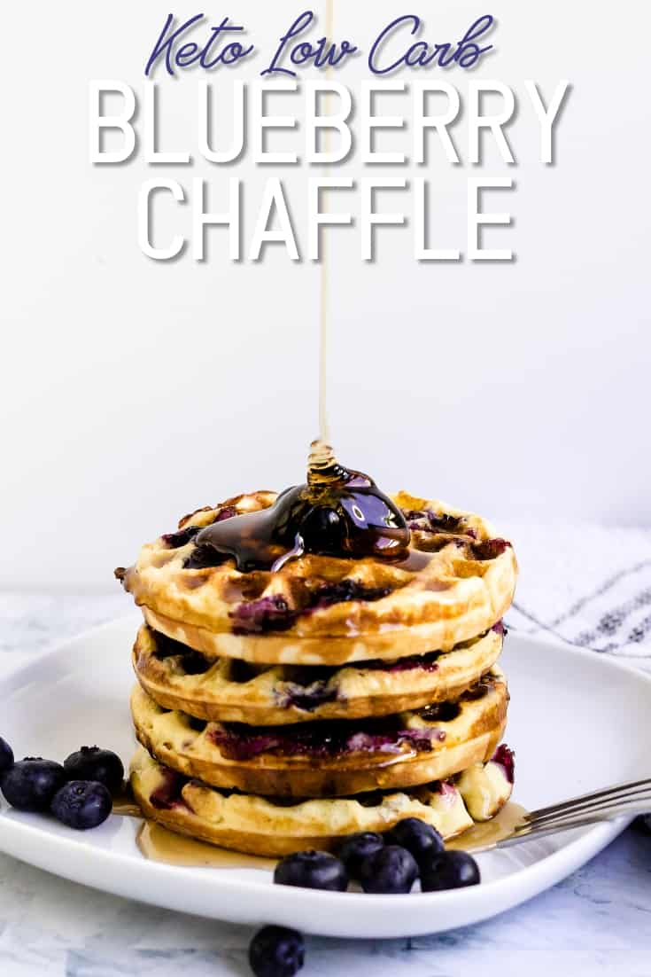Keto Low Carb Blueberry Chaffle