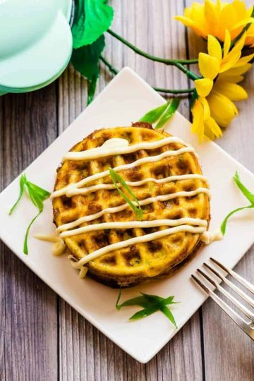 Cheese Waffle Japanese Breakfast Omelet LowCarbingAsian Cover