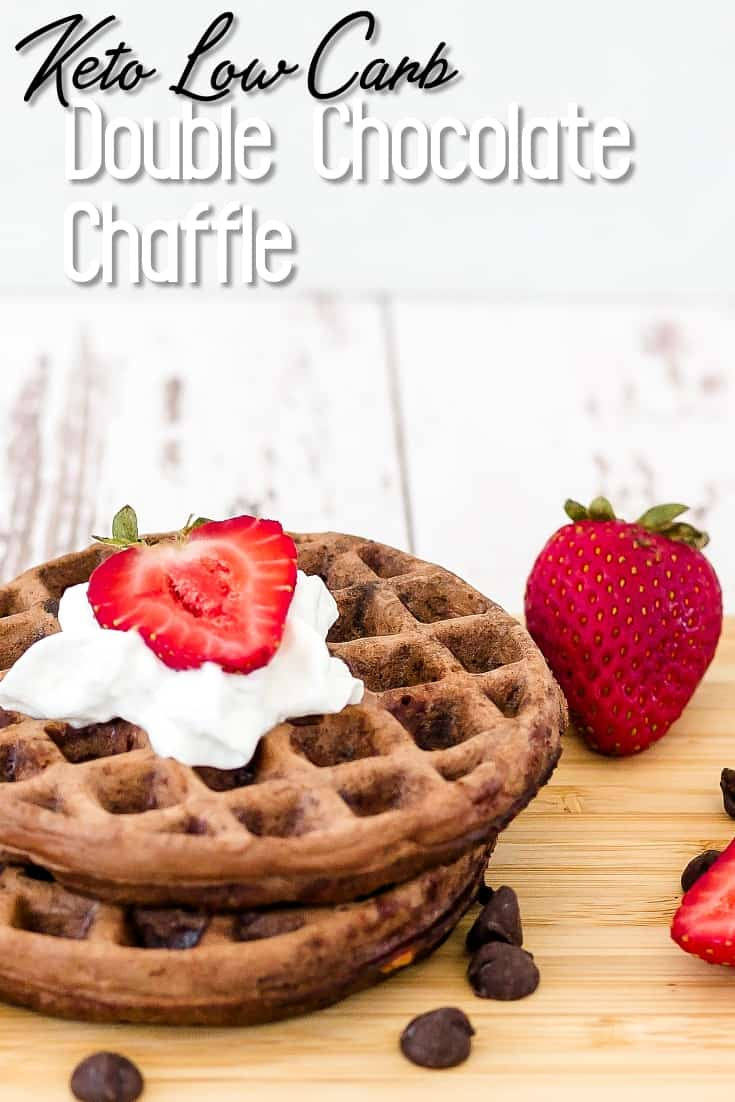 Keto Low Carb Double Chocolate Chaffles