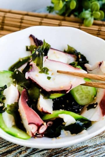Japanese Octopus Salad - Tako Su LowCarbingAsian Cover
