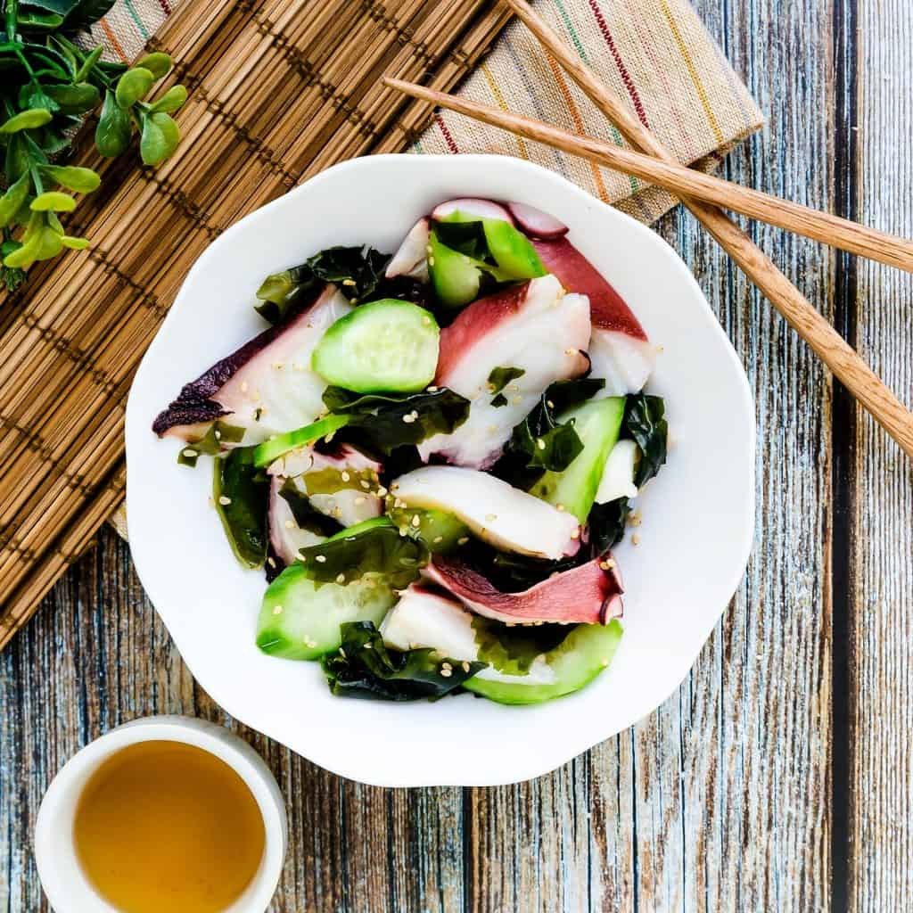 Japanese Octopus Salad - Tako Su LowCarbingAsian Pic 1