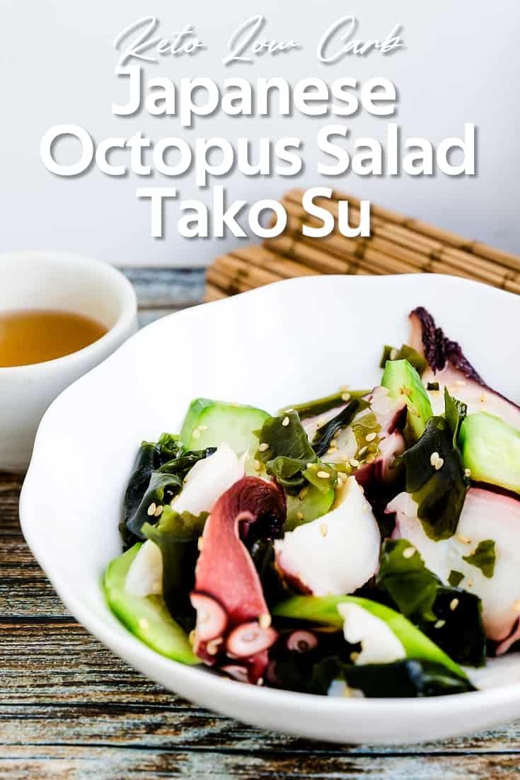 Japanese Octopus Salad - Tako Su LowCarbingAsian Pin 1