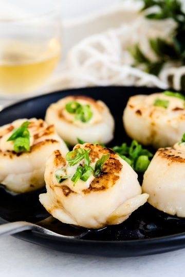 Japanese Style Butter Seared Scallops