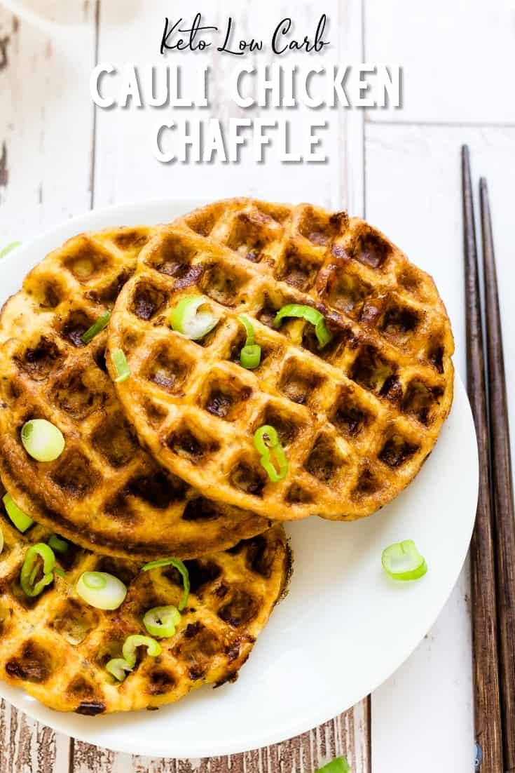Keto Cauli Chicken Chaffle LowCarbingAsian Pin 2