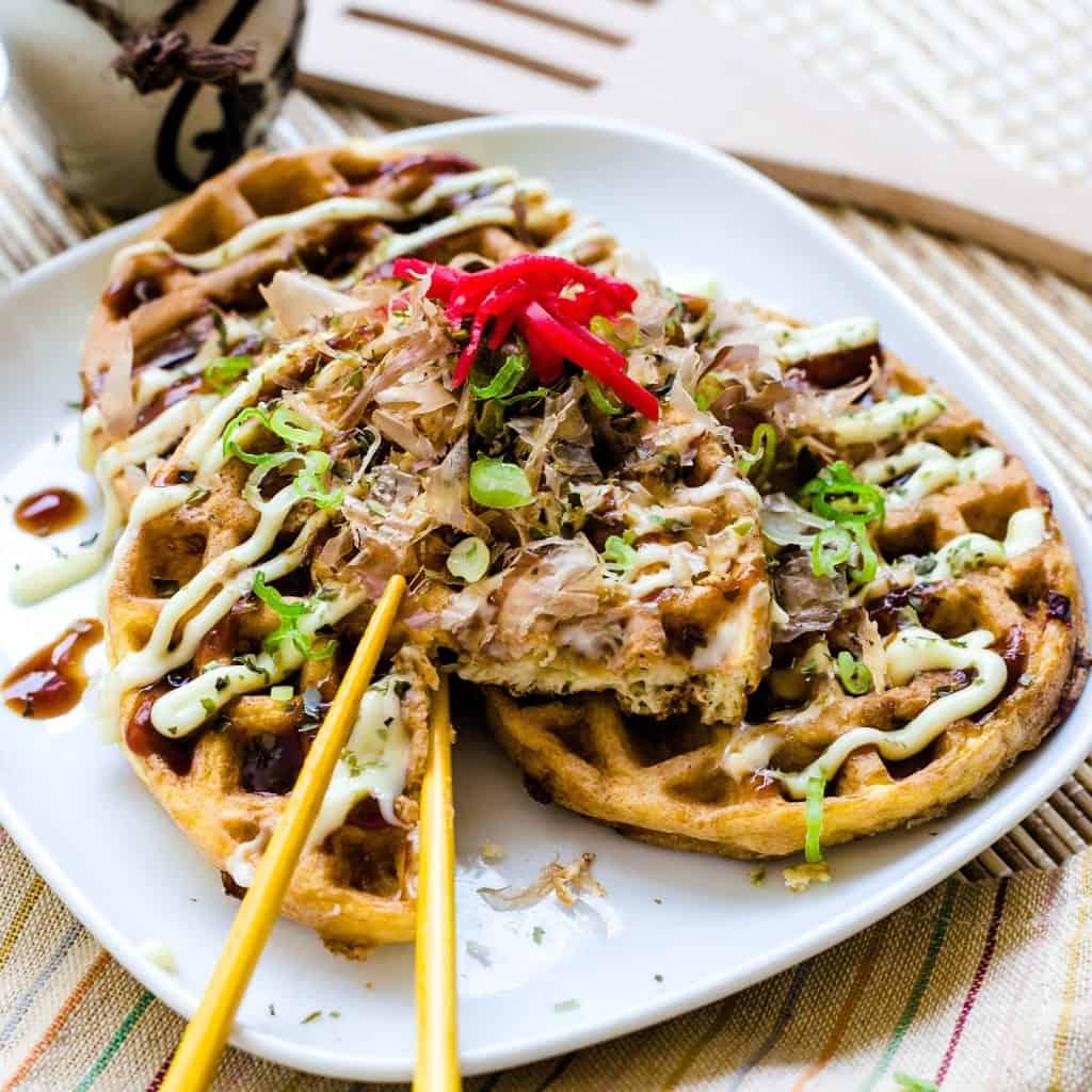 Keto Chaffle Okonomiyaki LowCarbingAsian Pic 2