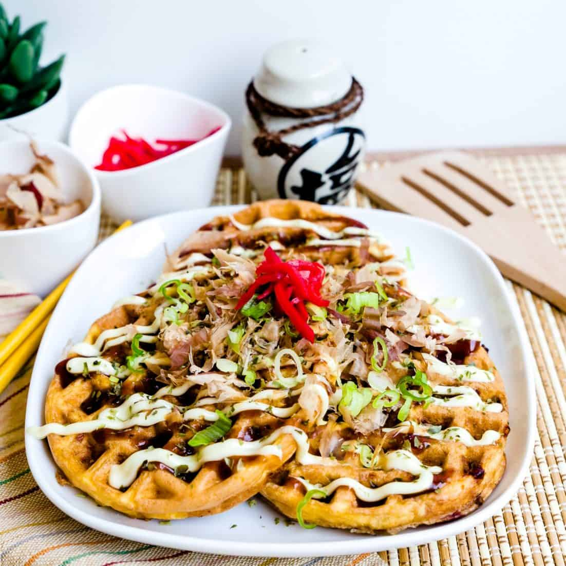 Keto Chaffle Okonomiyaki LowCarbingAsian Pic