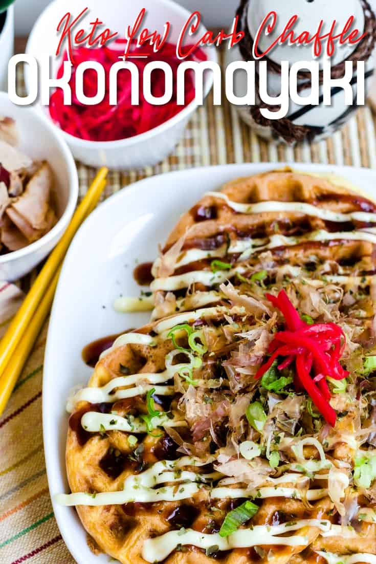 Keto Low Carb Chaffle Okonomiyaki