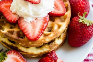 Keto Cream Cheese Mini Waffles LowCarbingAsian Cover