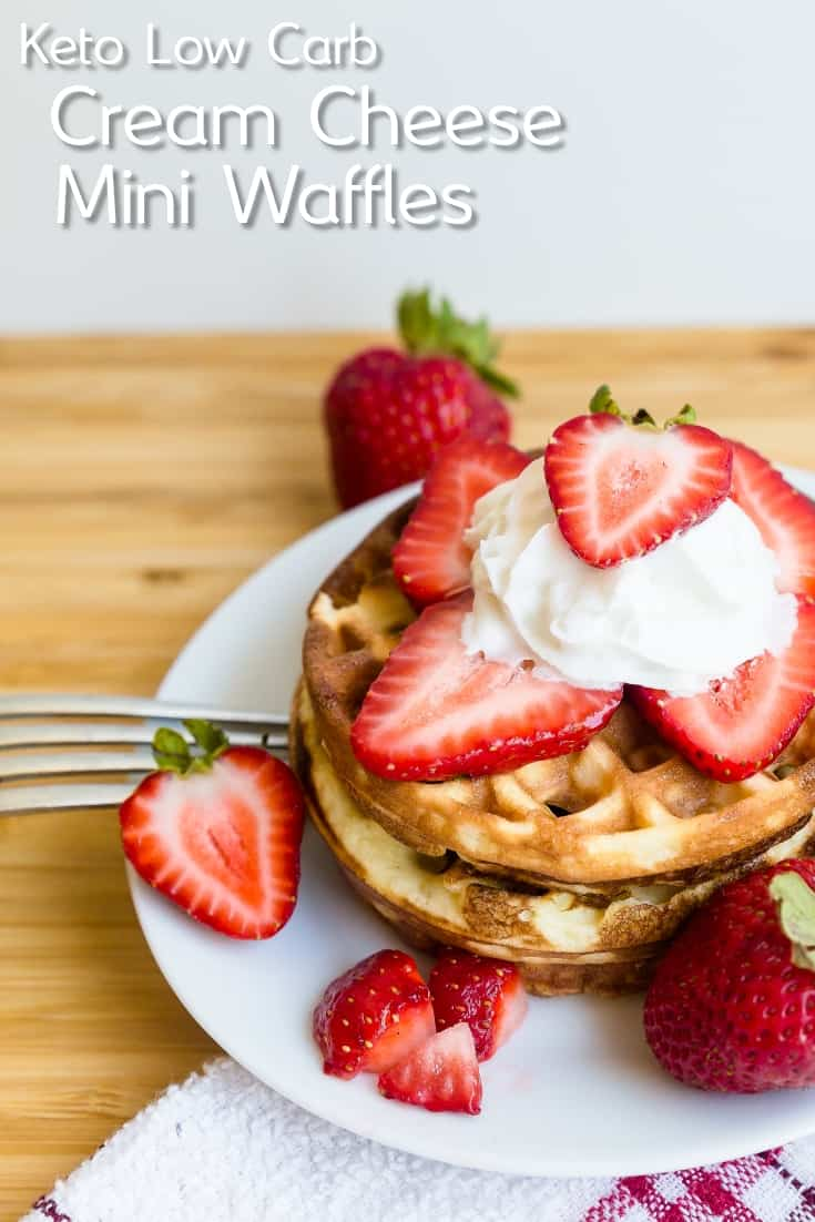 Keto Cream Cheese Mini Chaffle Waffles