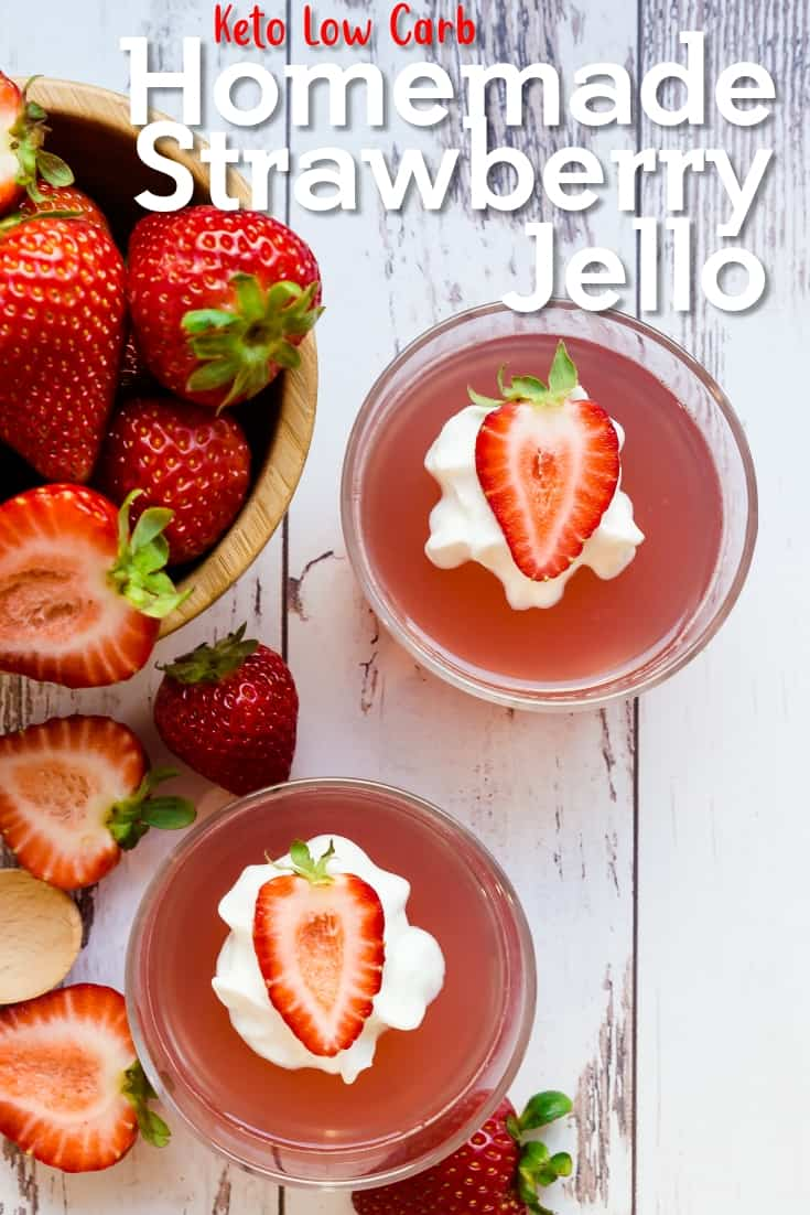 Keto Low Carb Homemade Strawberry Jello
