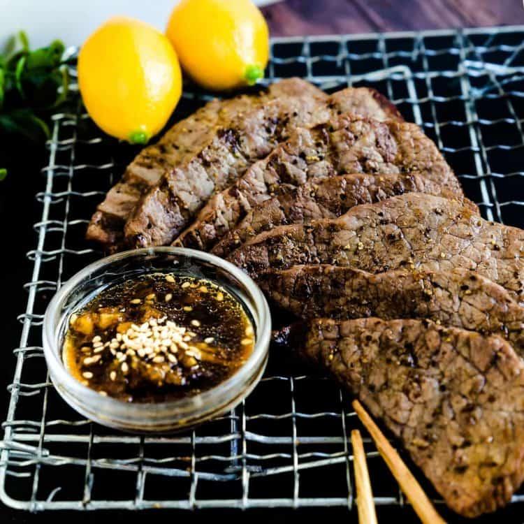 Keto Japanese Grilled Beef - Yakiniku LowCarbingAsian Cover