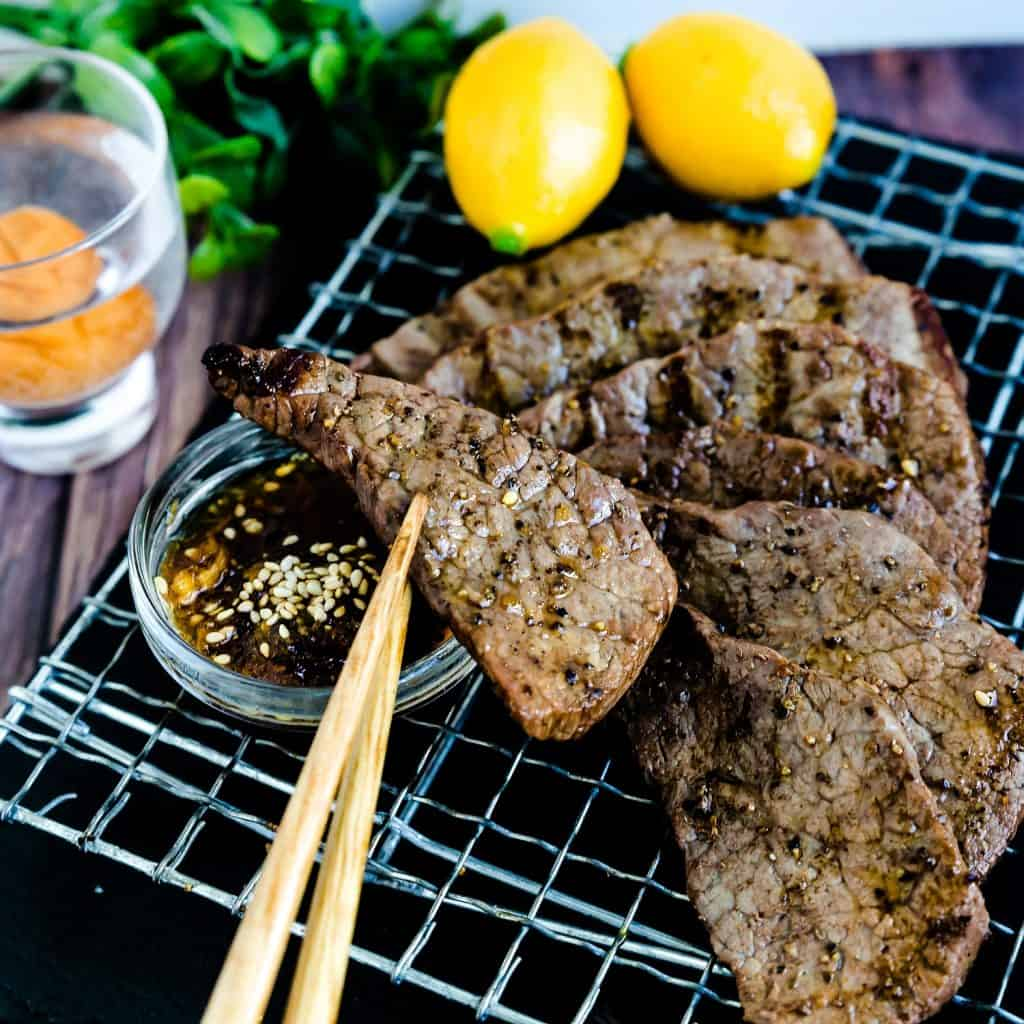 Keto Japanese Grilled Beef - Yakiniku LowCarbingAsian Pic 2