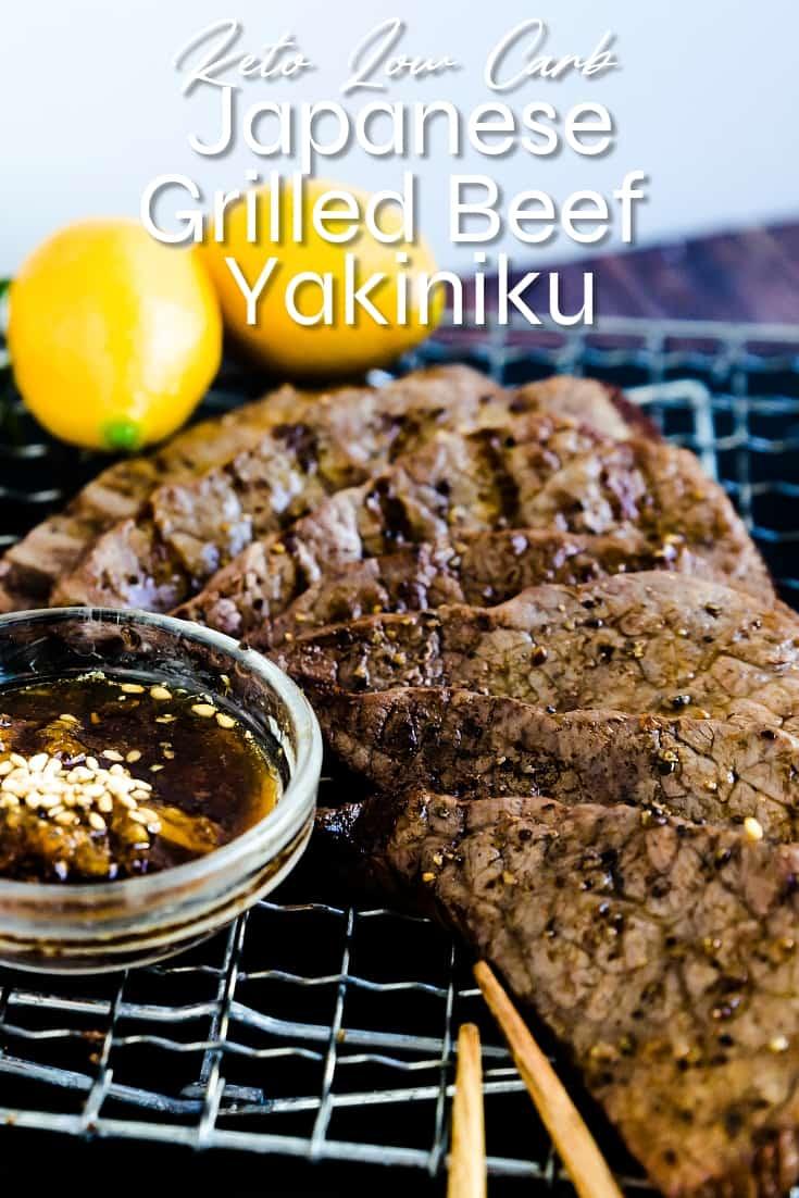 Keto Low Carb Japanese Grilled Beef - Yakiniku