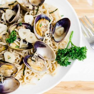 Keto Japanese Style Vongole Pasta LowCarbingAsian Cover