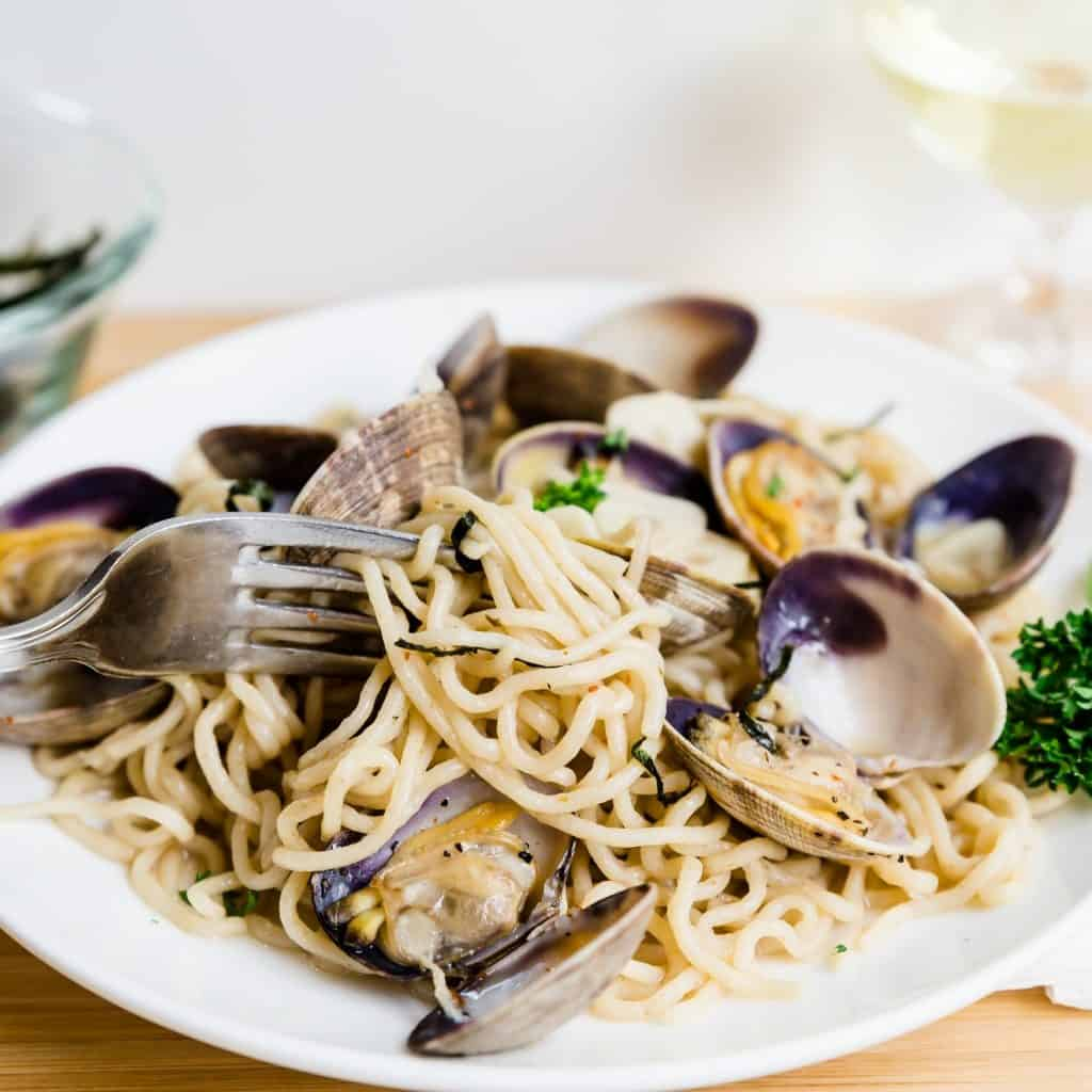 Keto Japanese Style Vongole Pasta LowCarbingAsian Pic
