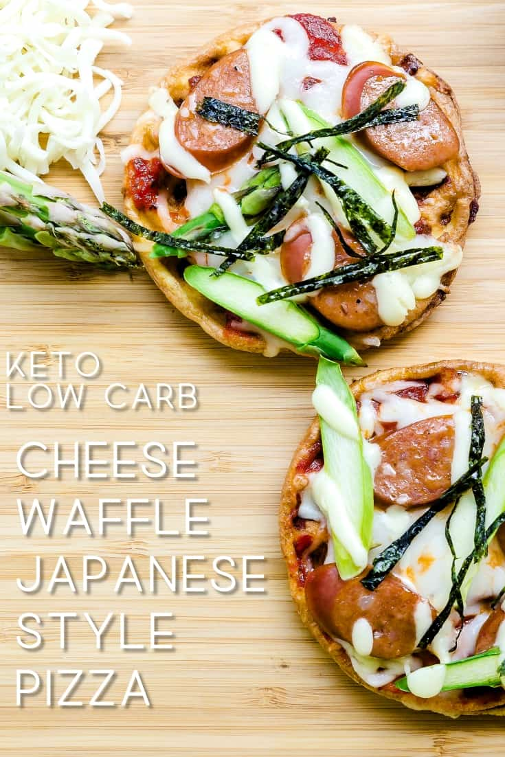 Keto Low Carb Cheese Chaffle Waffle Japanese Style Pizza LowCarbingAsian Pin 2
