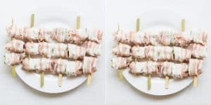 Keto Pork Belly Wrapped Asparagus and Okra - Yakitori Recipe (22)