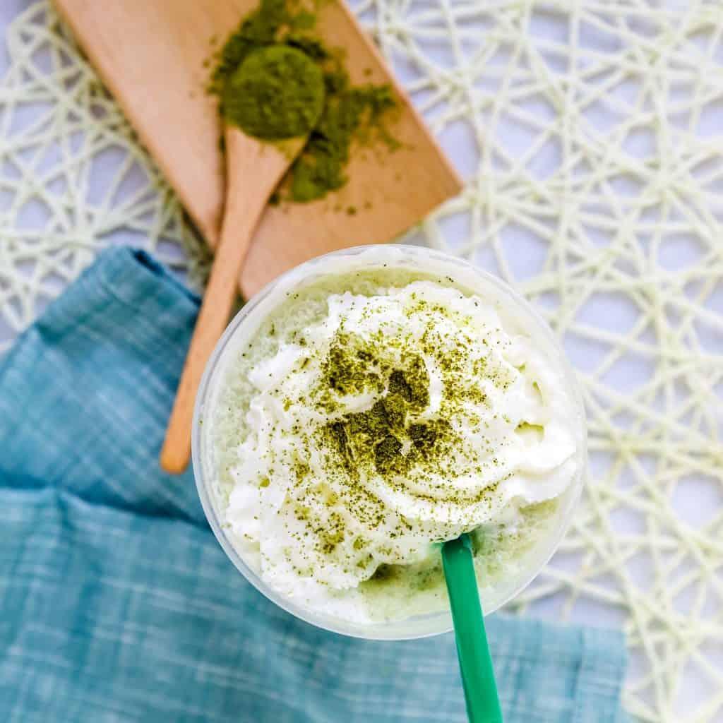 Keto Starbucks Copycat Matcha Creme Frappuccino Pic 1