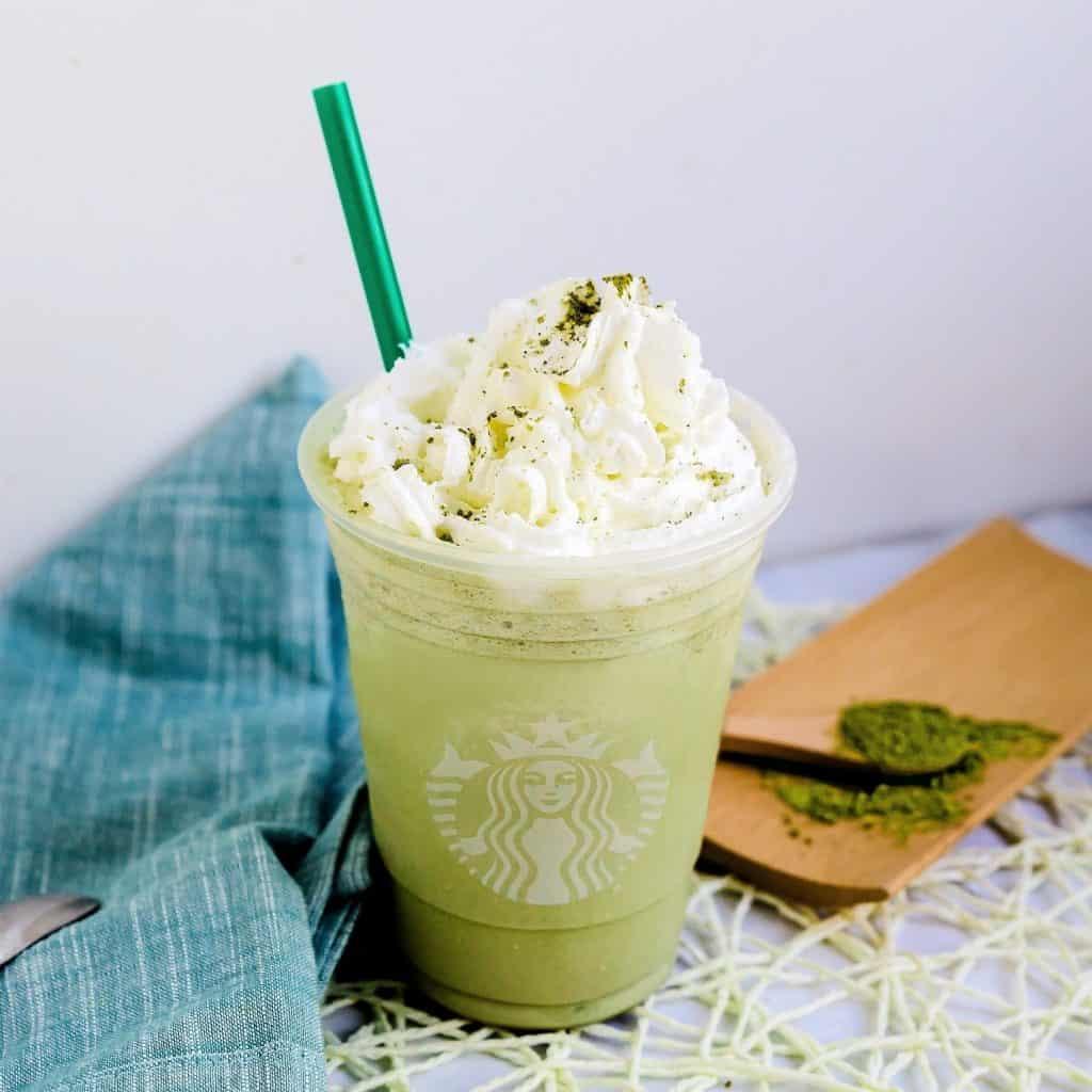 Keto Starbucks Copycat Matcha Creme Frappuccino Pic 2