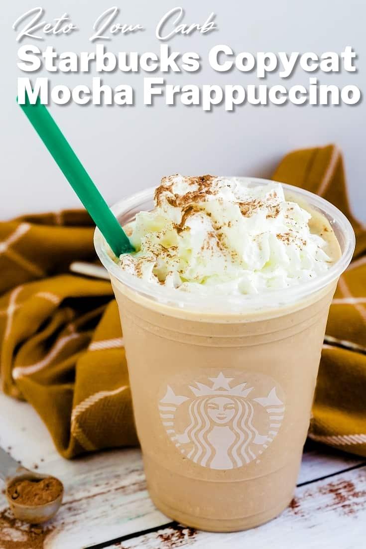 Keto Starbucks Copycat Mocha Frappuccino Pin 1