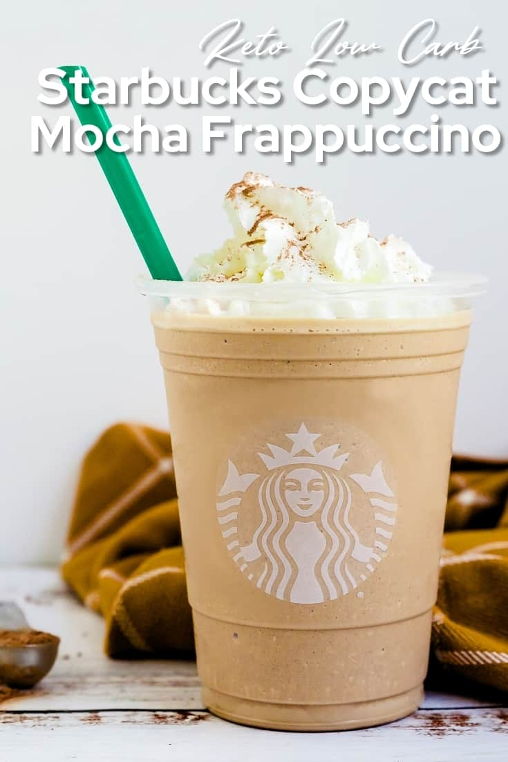 Keto Starbucks Copycat Mocha Frappuccino Pin 2