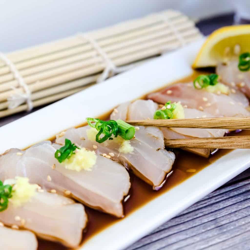Red Seabream Carpaccio Sashimi LowCarbingAsian Pic 3