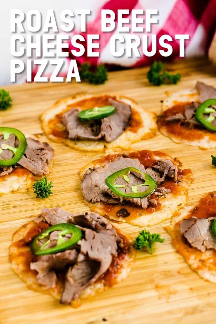 Roast Beef Cheese Crust Pizza