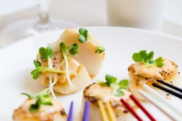 Seared Butter Scallops with Spicy Mayo LowCarbingAsian Cover 2