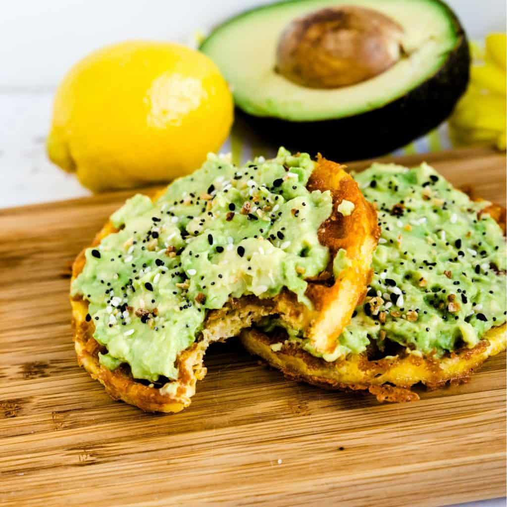 Chaffle Avocado Toast LowCarbingAsian Pic 1
