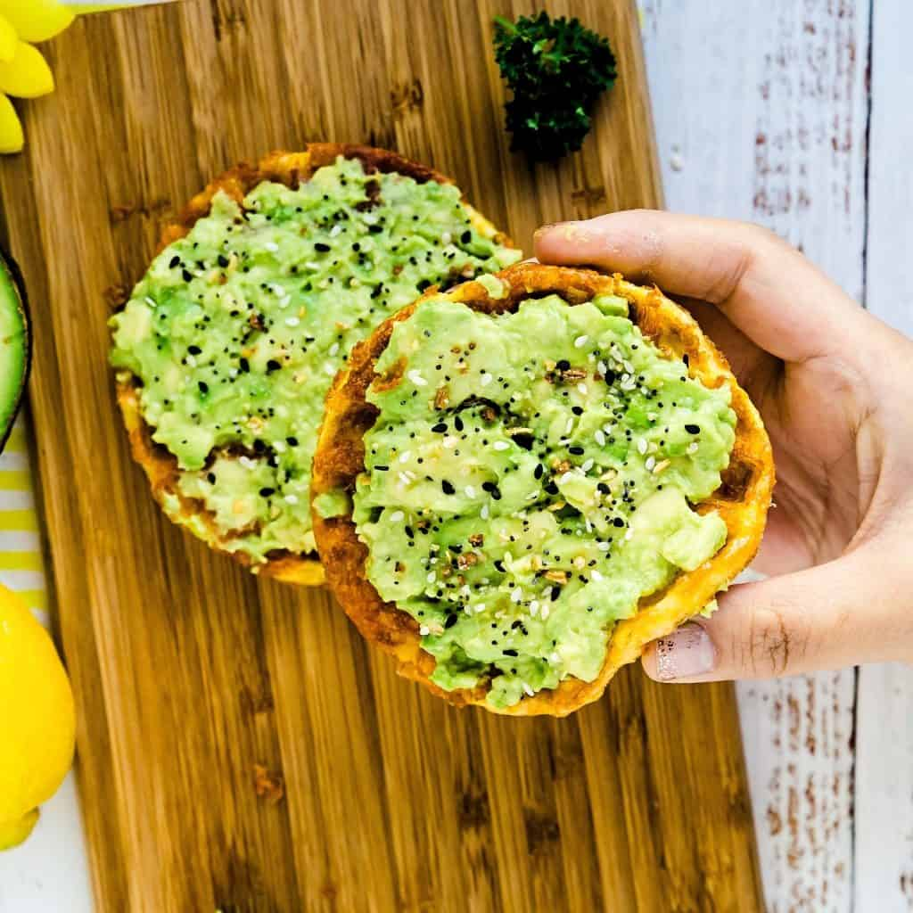 Chaffle Avocado Toast LowCarbingAsian Pic 2