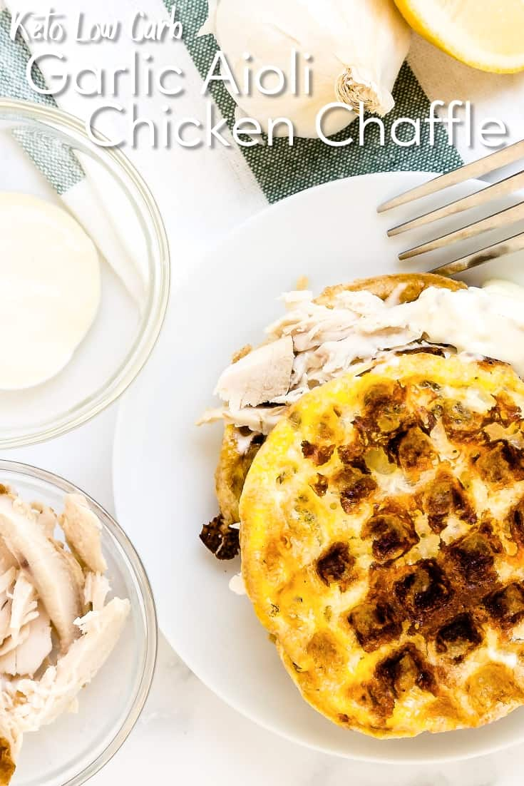 Garlic Aioli Chicken Chaffle LowCarbingAsian Pin