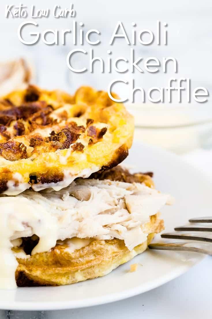 Garlic Aioli Chicken Chaffle LowCarbingAsian Pin 2