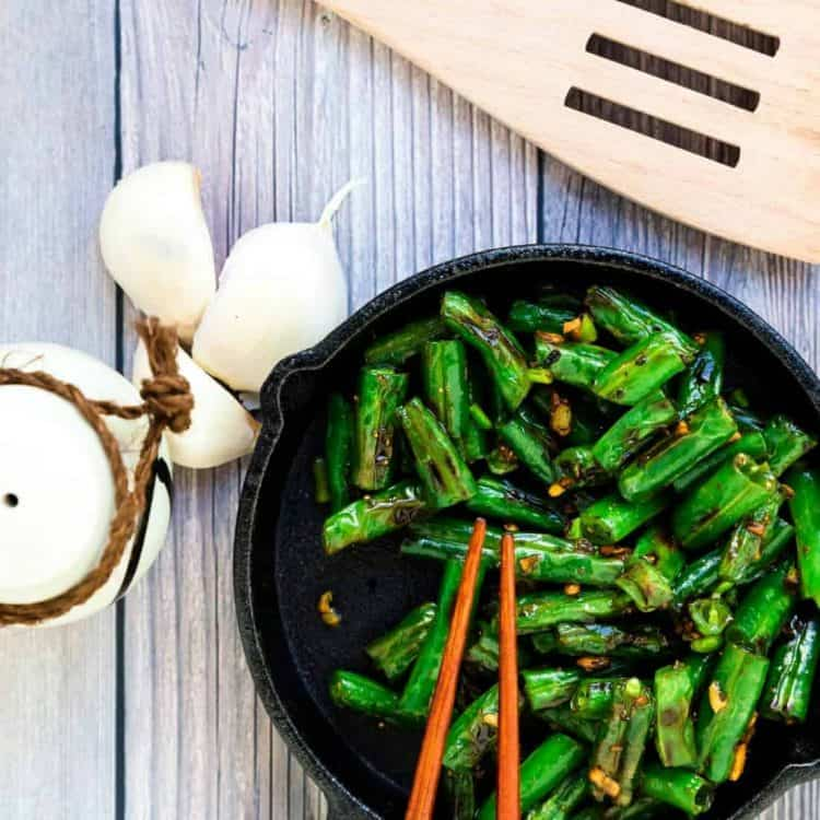 Garlic Sesame Green Bean Stir Fry LowCarbingAsian Cover