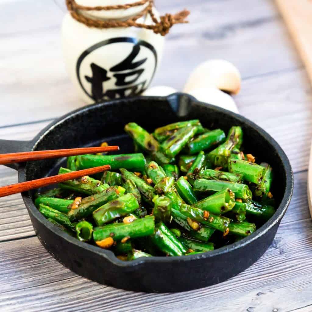 Garlic Sesame Green Bean Stir Fry LowCarbingAsian Pic
