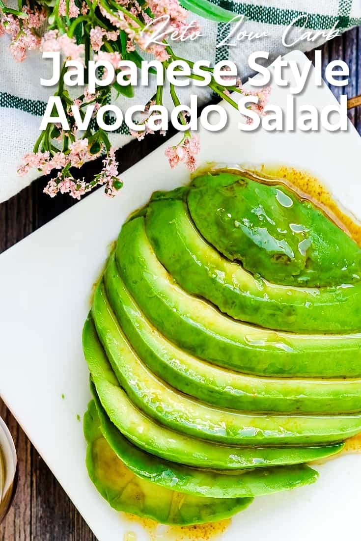 Japanese Style Avocado Salad LowCarbingAsian Pin 1