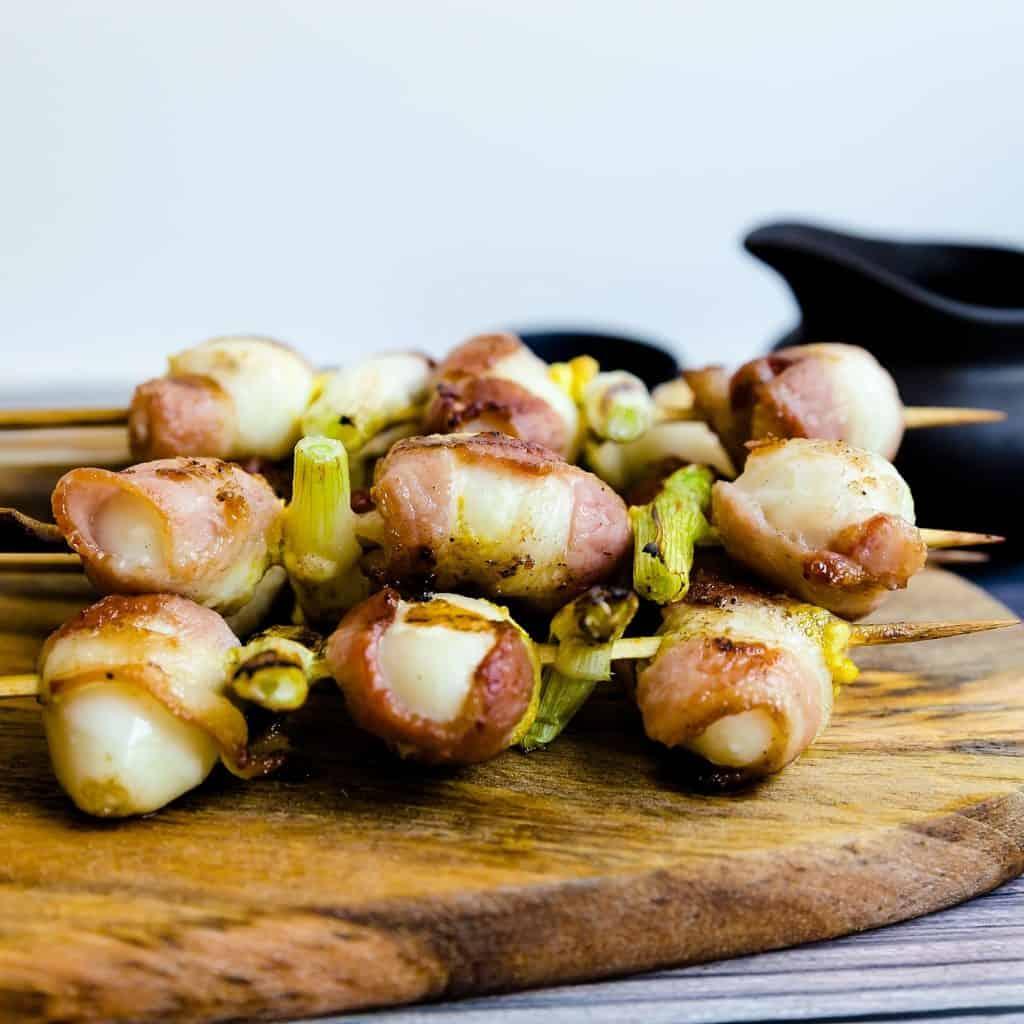 Keto Bacon Wrapped Quail Eggs - Yakitori LowCarbingAsian Pic 2